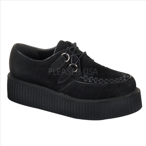 men's black suede creeper shoes
