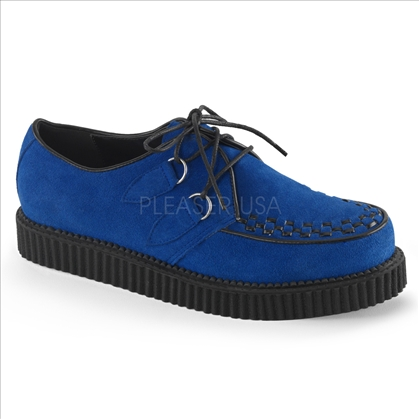 men's blue suede platform shoes