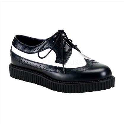 men's black white oxford shoes