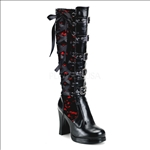 5 buckles knee high goth boots