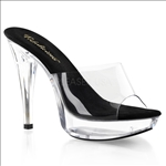 curved front platform evening shoes