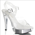 silver chrome 5 inch heel party shoes