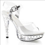 rhinestone studded platform shoes