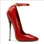ultra high heel red dagger shoes