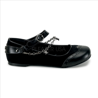 goth punk flat shoes