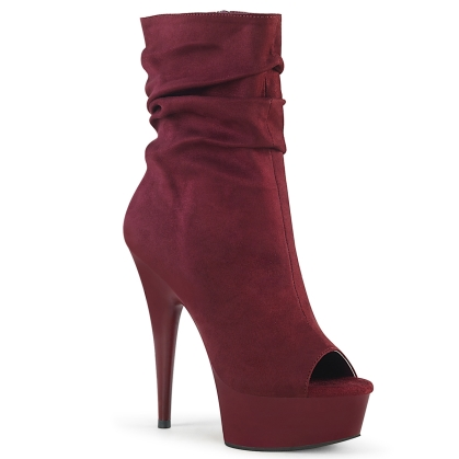 delight 1031 burgundy faux suede burgundy matte