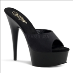 Strapless Stripper Shoe Black Matte 6 Inch Heel