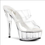 Exotic Dancer Dual Band 6 Inch Heel Dance Shoes