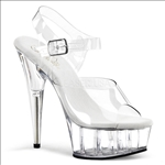Basic Clear 6 Inch Heel Strap Exotic Dance Shoe