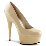 Cream Color 6 Inch Stiletto Heel Pumps
