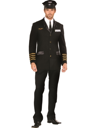 Mile High Club Male Pilot Halloween Costume | Buy Online VAVOOM.com