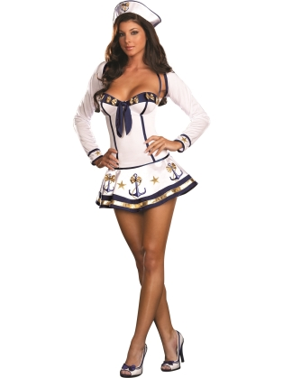 Maiden At Sea Stretch Dress Sailor Costume | Low Prices VAVOOM.com