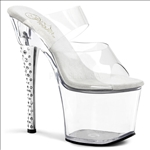 rhinestone studded 7 inch heel exotic dance shoes