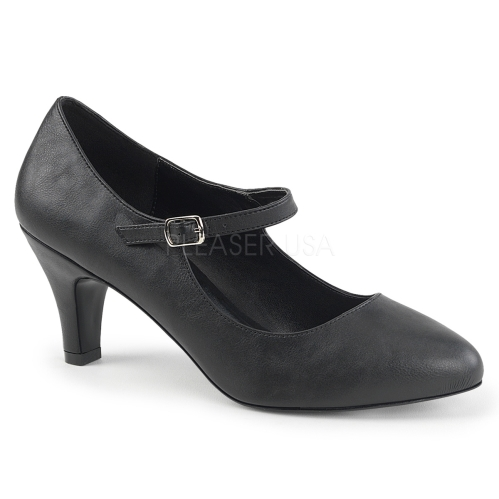 sophisticated Mary Jane pumps black matte