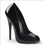 open toe high 6 inch stiletto heel shoe