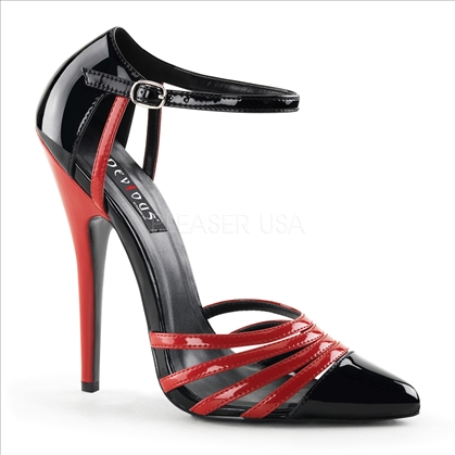 daring red black 6 inch stiletto heels