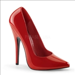 classic pump shiny red patent pointed toe shoe