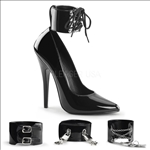 interchangeable ankle cuffs 6 inch stiletto pumps