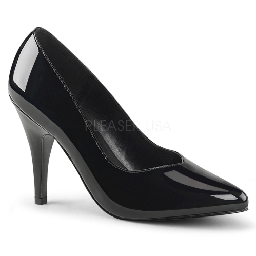 extended size professional business shoes shiny black patent leather