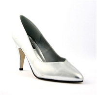 Sleek Subdued Silver Pump 4 Inch Heel