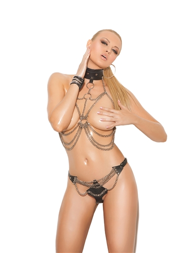 2 Piece Chain Top and Matching Thong set