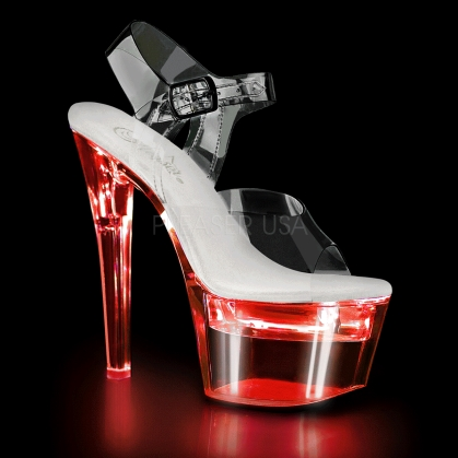 Clear Led Lights Usb Charge Ankle Strap Dance Shoe