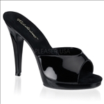 black patent no strap easy wear shoe