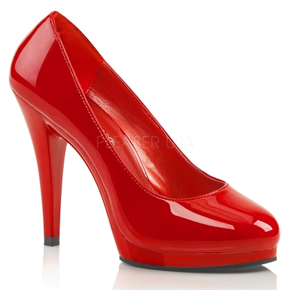 women's red patent closed toe wear-anywhere shoes
