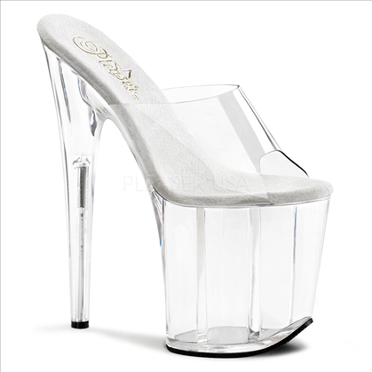 8 inch all clear strapless stripper shoes