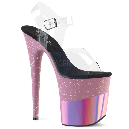 FLAMINGO-808-2HGM High Heel Pink Glitter Hologram