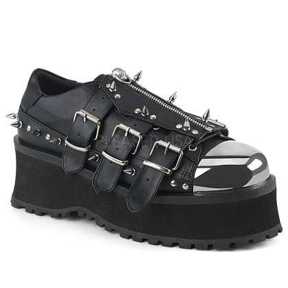 Domonia GRAVEDIGGER-03 Lace-Up Metal Toe Cap Shoe