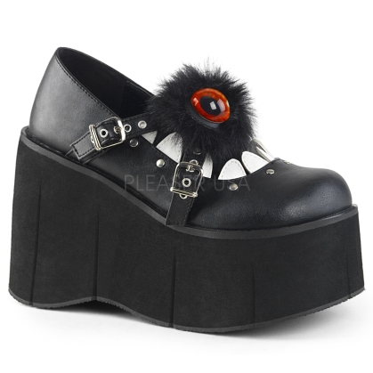 Platform crisscross Mary Jane Demonia shoes