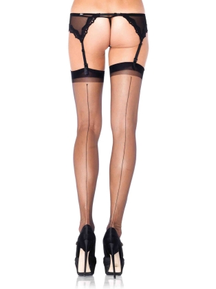 Stockings Ultra Heel Backseem Thigh Highs
