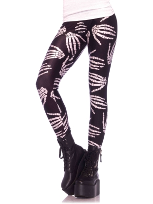 Dance Wear Boney Hands Legging