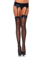 Stockings Satin Bow Thigh Highs