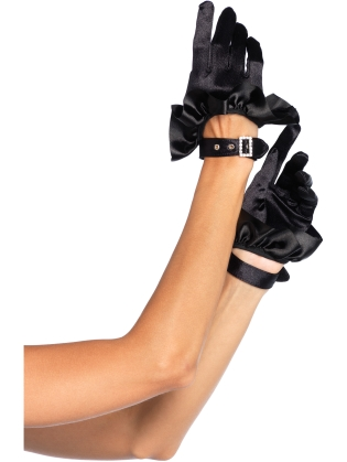Accessories Satin Ruffle Gloves