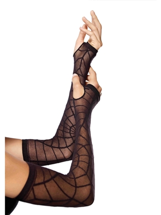 Costume Accessories Spiderweb Arm Warmers
