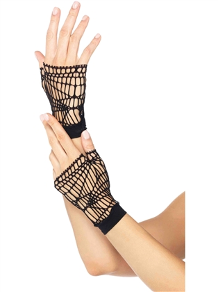 Accessories Distressed Net Gloves