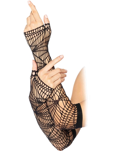 Accessories Distressed Net Arm Warmers