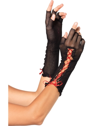 Accessories Fishnet Fingerless Gloves
