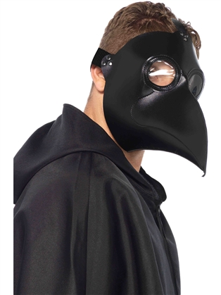 Costume Accessories Faux Leather Plague Mask