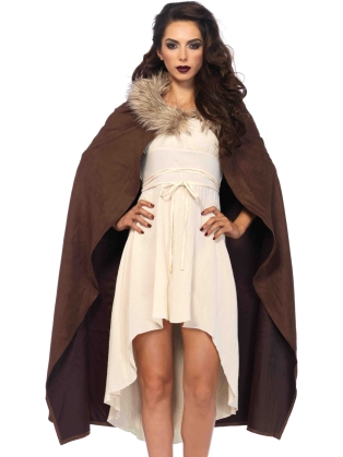 Costume Accessories Faux Fur Warrior Cape