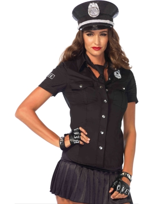 Costume Accessories Police Shirt