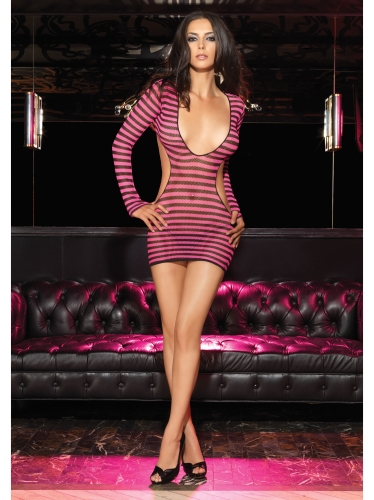 Dresses Fishnet Mini Dress