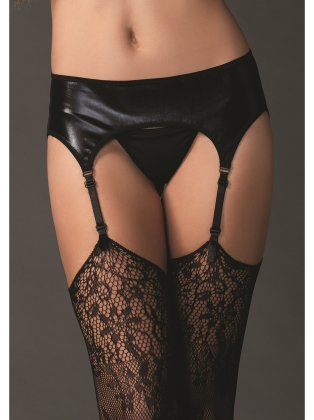 Lingerie Wet Look Garter Belt