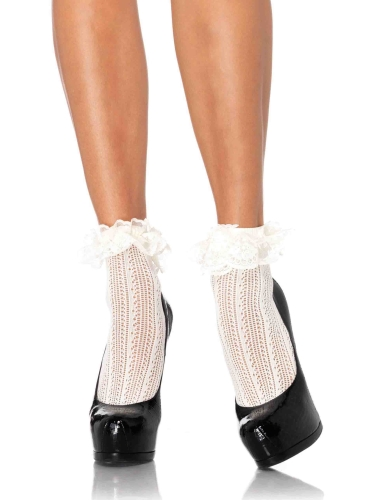 Stockings Crochet Net Anklets