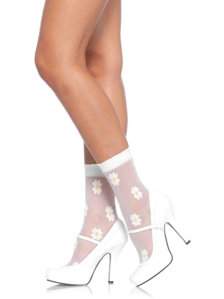 Stockings Spandex Woven Anklets