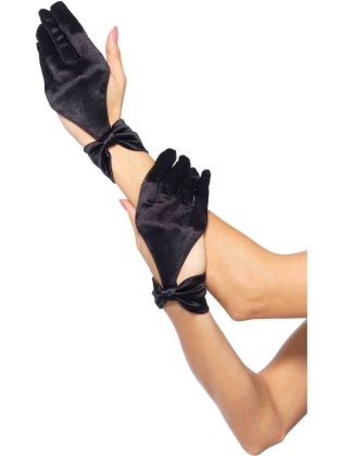 Fashion Accessories Satin Cut Out Gloves