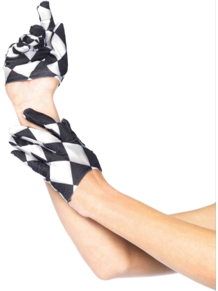 Costume Accessories Harlequin Crop Gloves