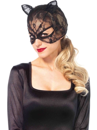 Fashion Accessories Lace Cat Mask